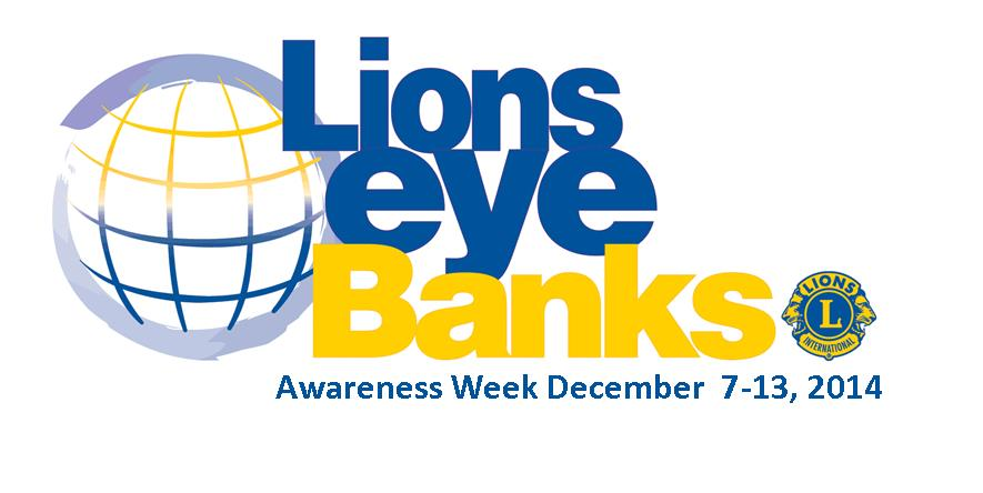 December 7-13, 2014 is Lions Eye Bank Week see what the Minnesota Lions Eye Bank is all about